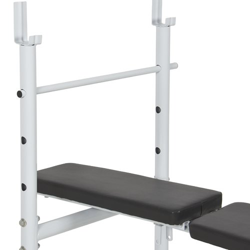 Best choice products deluxe adjustable flat incline weight bench
