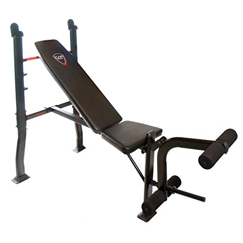Deluxe weight bench press equipment including a lbs weight set