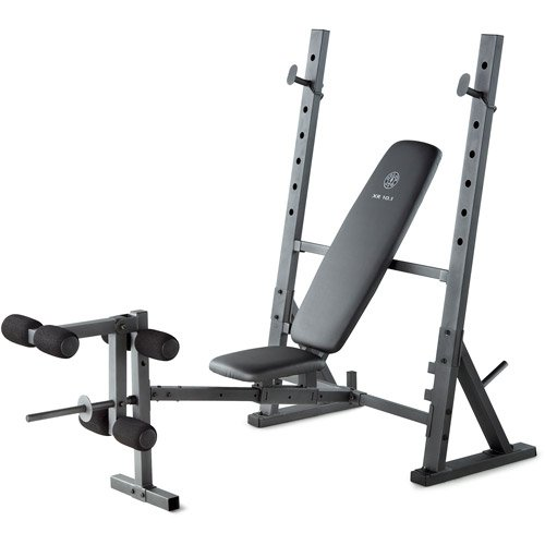 Home gym olympic weight bench steel construction exercise chart