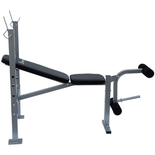 Soozier Incline Flat Exercise Free Weight Bench W Leg