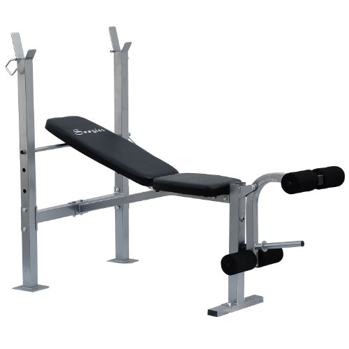 Free Weight Benches: Soozier Incline / Flat Exercise Free Weight Bench W/ Leg