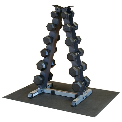 Dumbbell Set And Rack For Sale: Body Solid GDR44-RFWS Vertical Dumbbell Rack With Rubber
