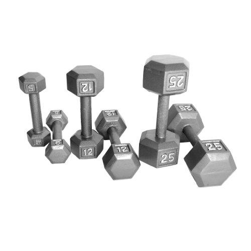 25 Lbs Dumbbell Set: CAP Barbell 150 Lb Hex Dumbbell Set, 5-25 Lb
