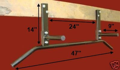 Joist Mount Chin Pull Up Bar Rafter Mounted For P90x Bands