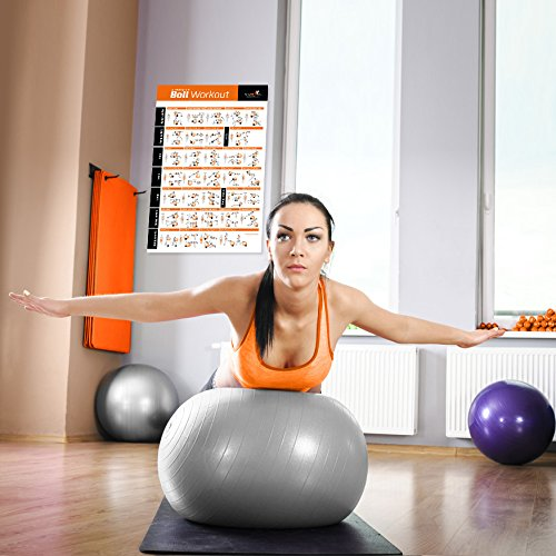 Exercise ball poster total body workout your personal
