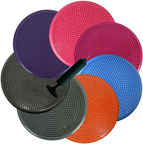 Inflated Stability Wobble Cushion Exercise Fitness Core Balance