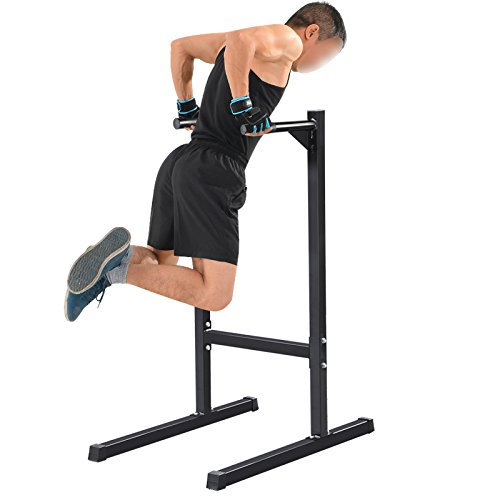 Topeakmart Dip Stand Parallel Bar Dip Station Training