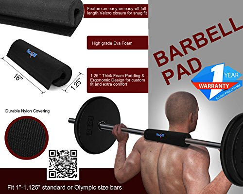 Yes4all Bar Pad Squat Weight Lifting Neck Shoulder