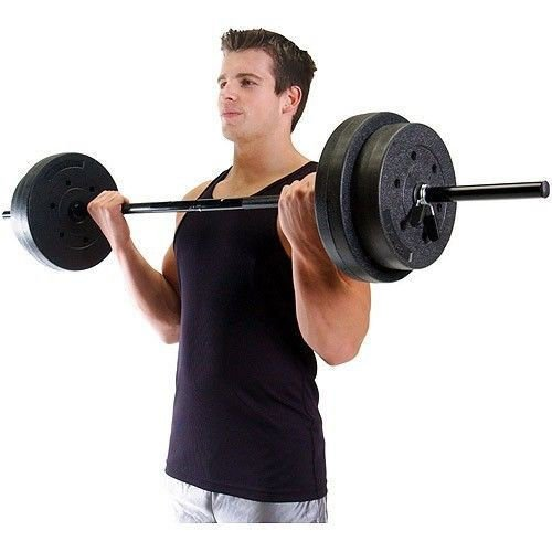 Barbell Weights Set For Home Gym 100 Lb