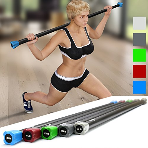 Yes4all Total Body Workout Multifunctional Exercise Bar/ Weighted Workout  Bar